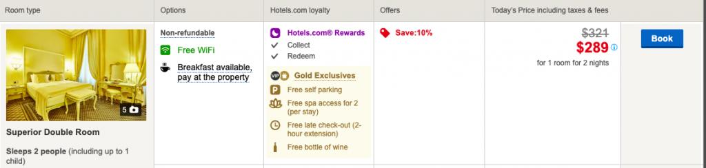 A screenshot highlighting Gold benefits.