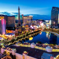 featured photo for this post - a photo of las vegas and hotels at night