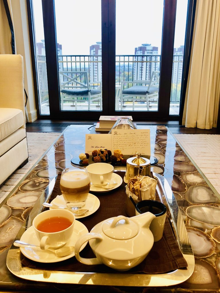 A photo of afternoon tea at the St. Regis