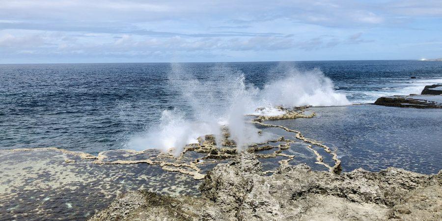 A photo of the blowholes in Nuku'alofa.
