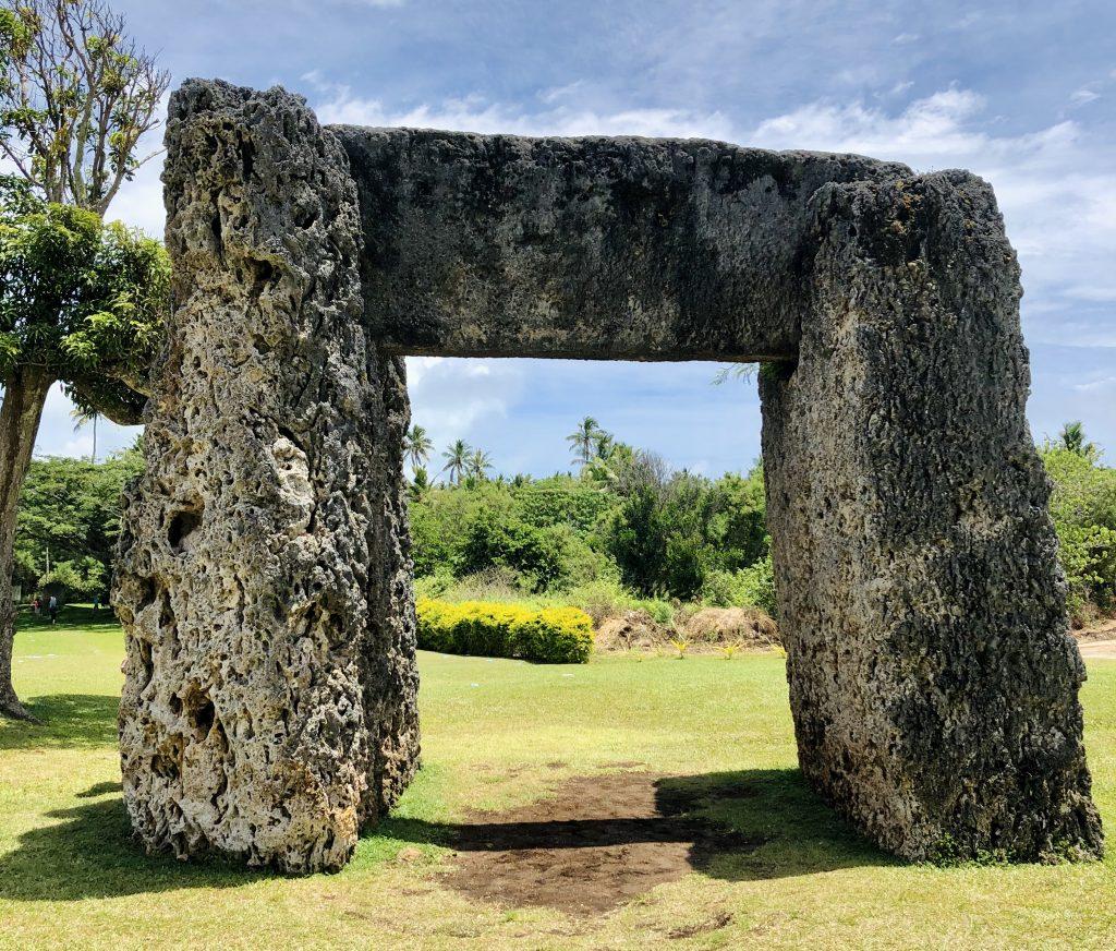 A photo of Stonehenge in Nuku'alofa.