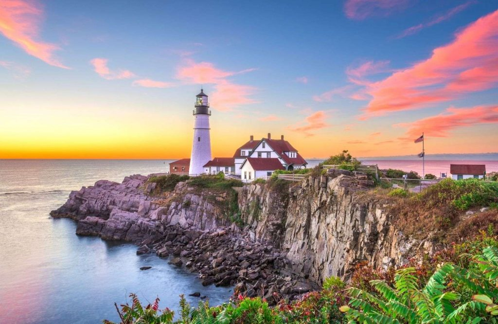 One of the most romantic USA weekend trips is Portland, Maine.