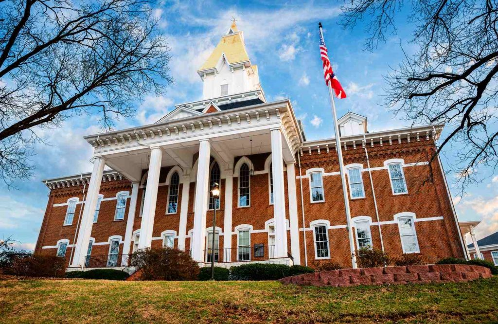One of the best towns to visit in Georgia is Dahlonega.