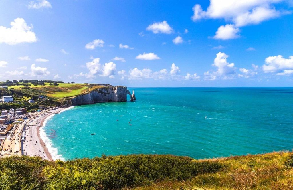 Etretat is one of the most beautiful and best coastal towns in France.