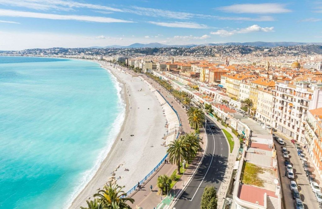 Nice is one of the best beach towns in France.