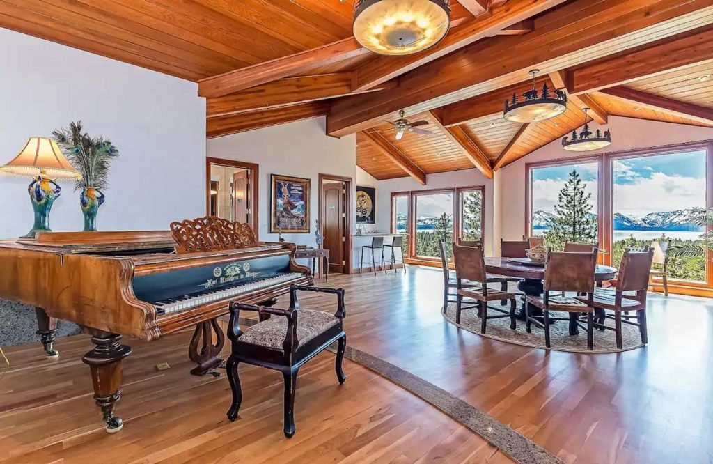 Bear Claw Estate is one of the most elegant Airbnbs in Lake Tahoe.