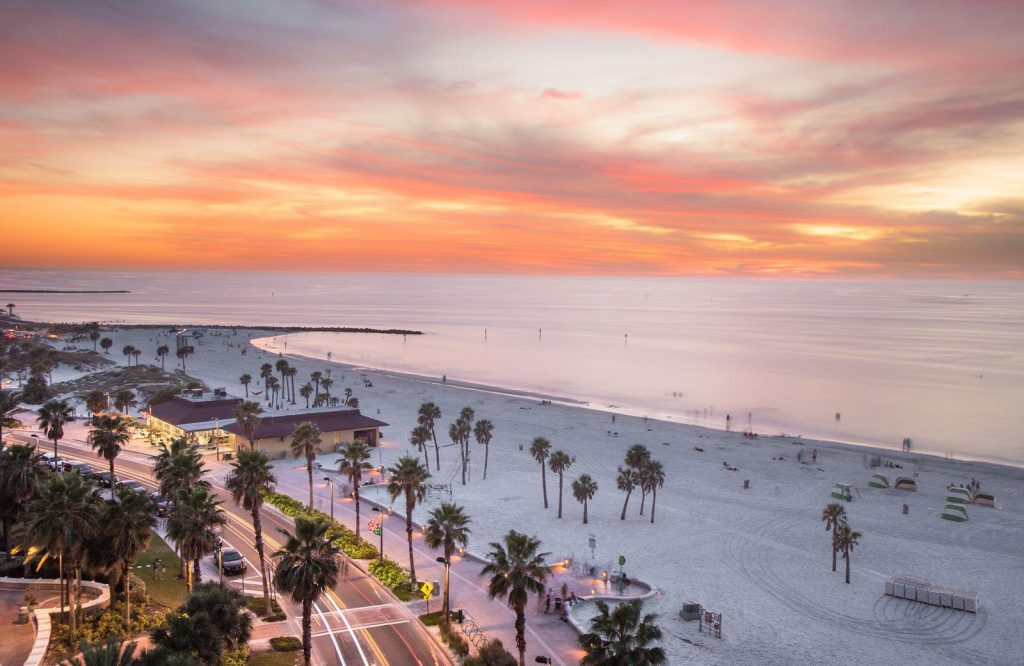 One of the best beaches in the USA is Clearwater Beach.