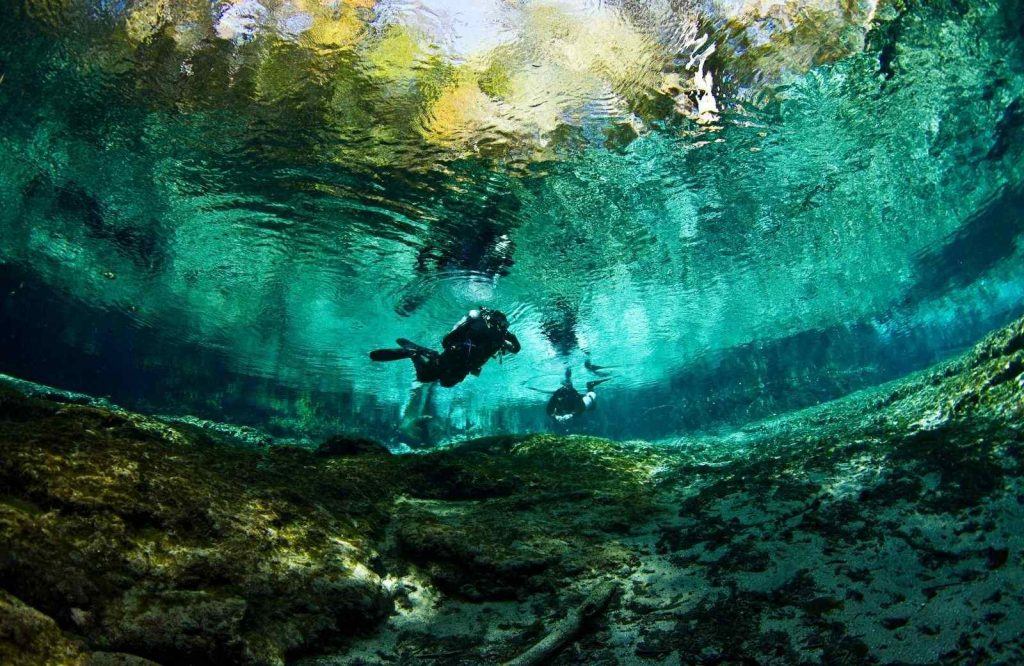 A unique place to stop on your Florida road trip is Ginnie Springs.
