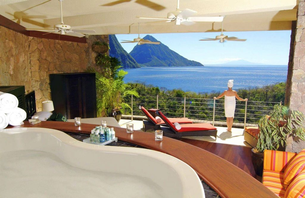 Consider staying at Jade Mountain Resort on your St. Lucia honeymoon.