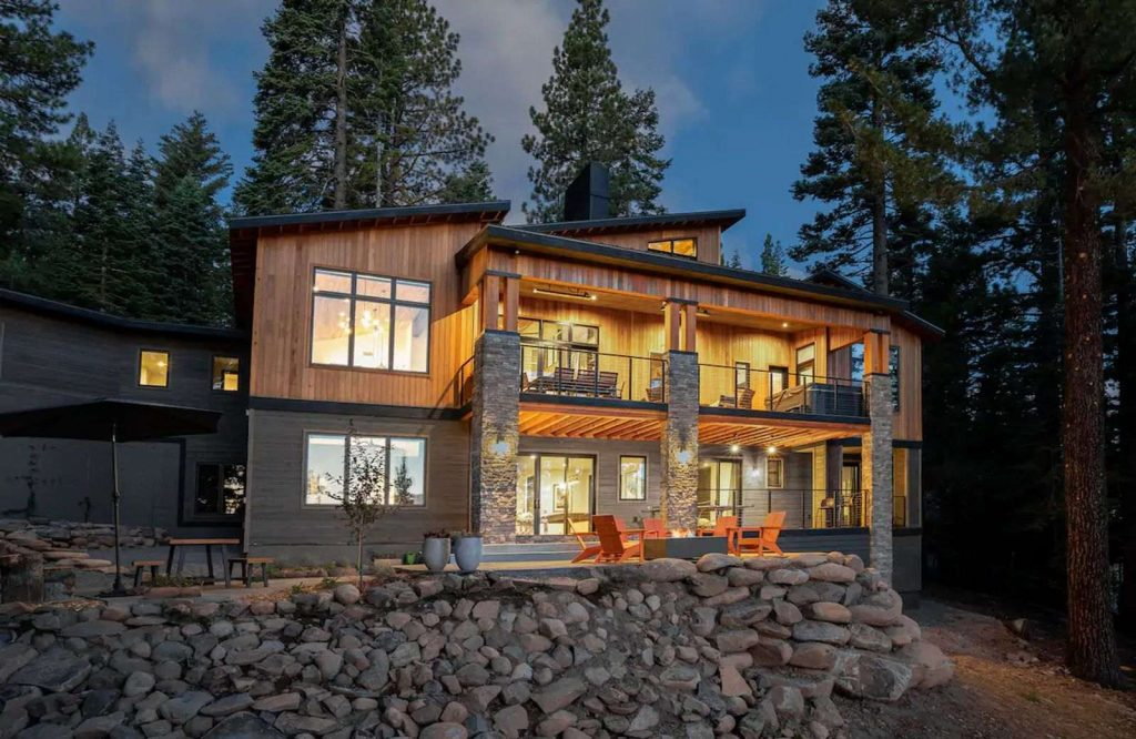 Sugar Pine Estate is one of the most beautiful Airbnbs in Lake Tahoe.