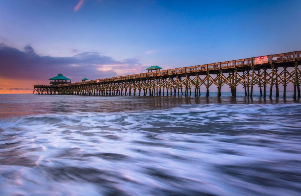 A good place to relax during your weekend in Charleston is Folly Beach.