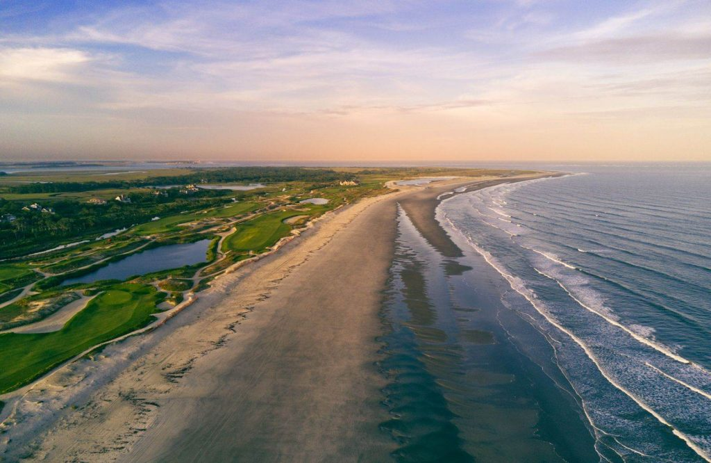One of the prettiest islands in the USA is Kiawah Island.