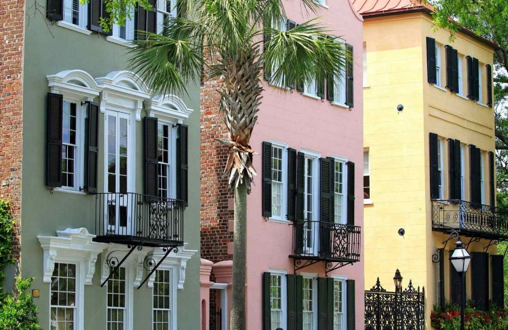 Don't forget to snap a photo in front of Rainbow Row during your weekend in Charleston.