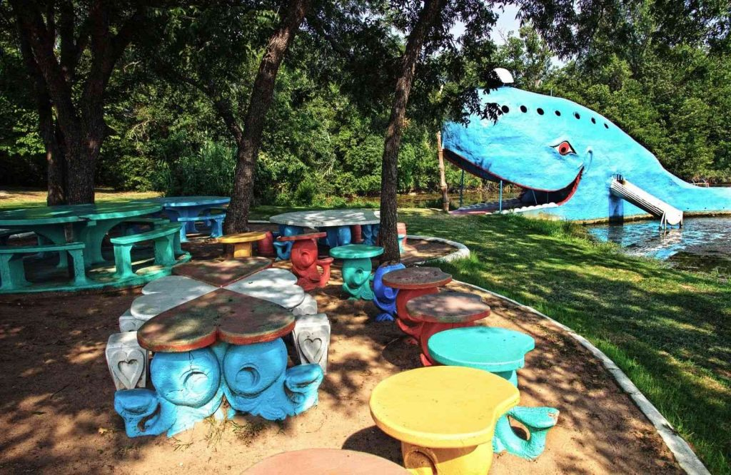 If you're looking for neat Route 66 attractions, visit the Blue Whale in Catoosa.