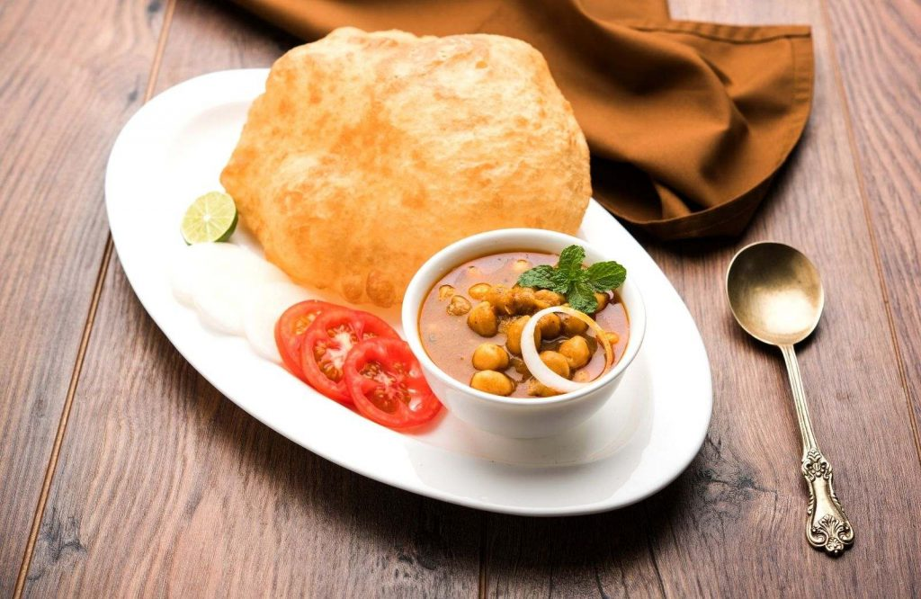 Chole Bhature is one of many amazing Indian street food dishes.