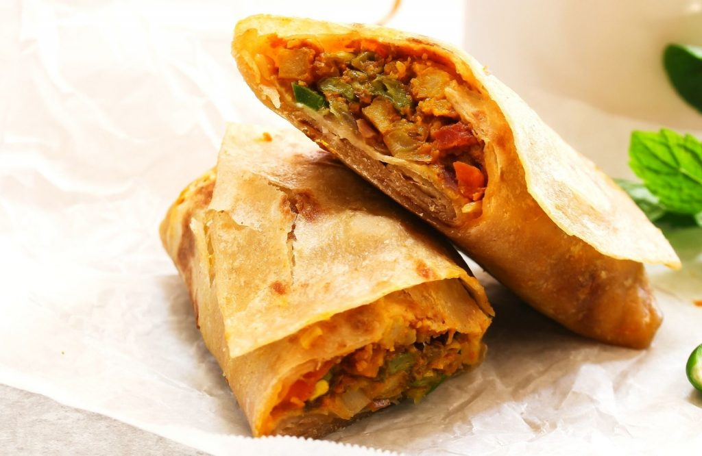 Kathi Rolls are an amazing Indian street food dish.