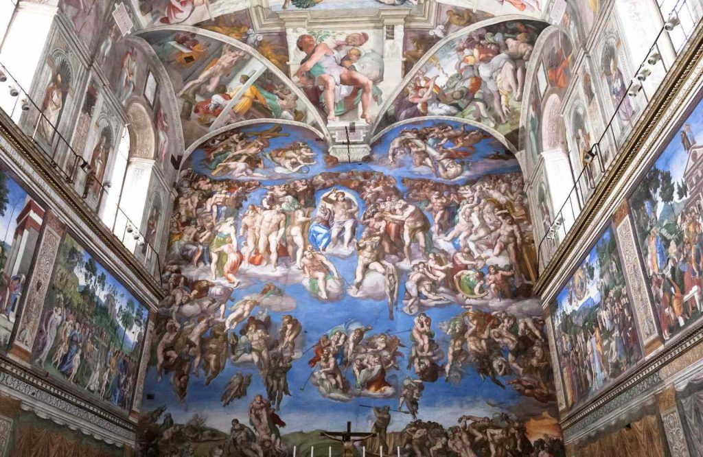 Don't forget to look at Michelangelo's paintings in the Sistine Chapel when visiting the Vatican.