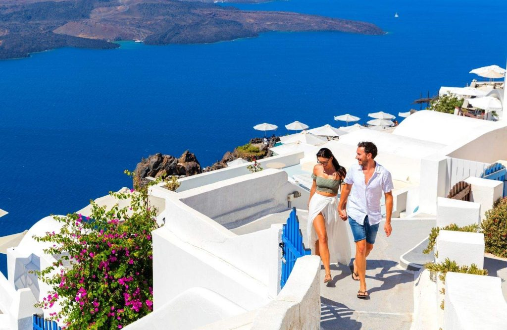 Of the two, Santorini is the most romantic.