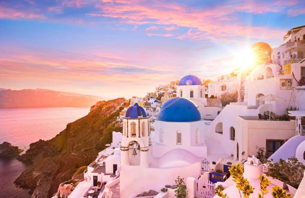 One of the most popular romantic cities in Europe is Santorini.