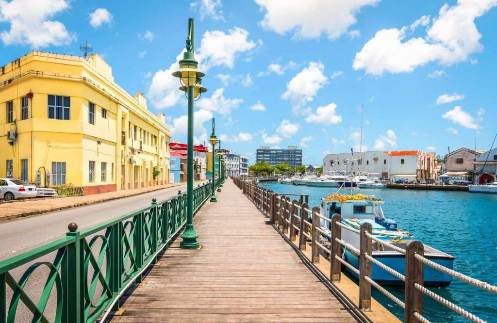 The boardwalk is a fun place to explore on your vacation to Barbados.