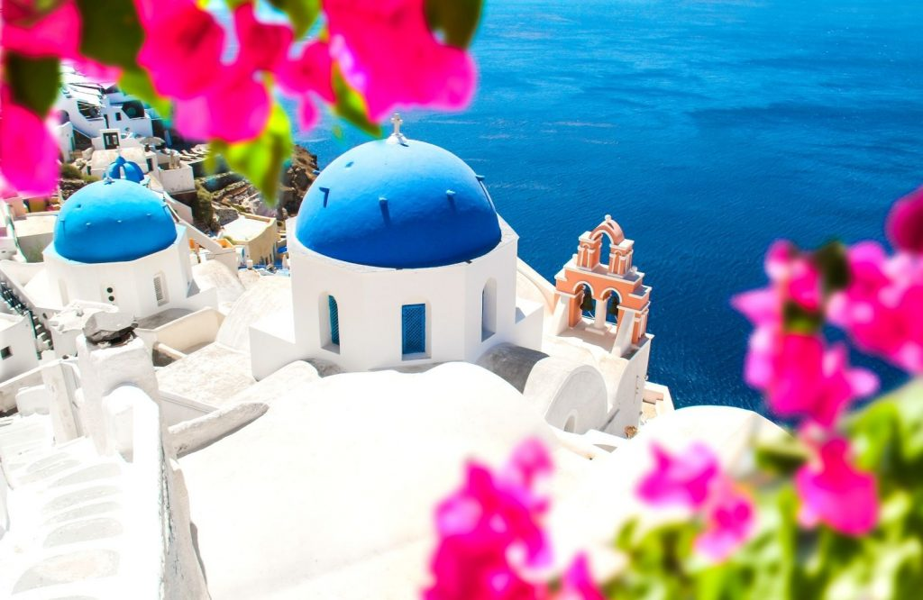 The distance from Athens to Santorini is 127 nautical miles.