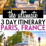 3 days in Paris itinerary — Pin 1