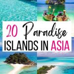 Pinterest pin three for islands in Asia.